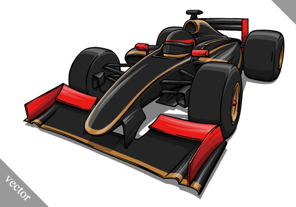 Cool F1 car Vector EPS