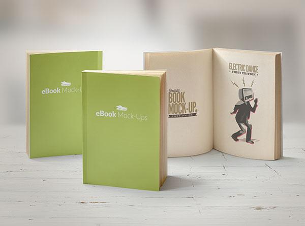 Creative book mockup PSD