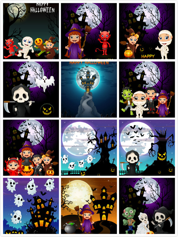 Creative Halloween vector EPS 01