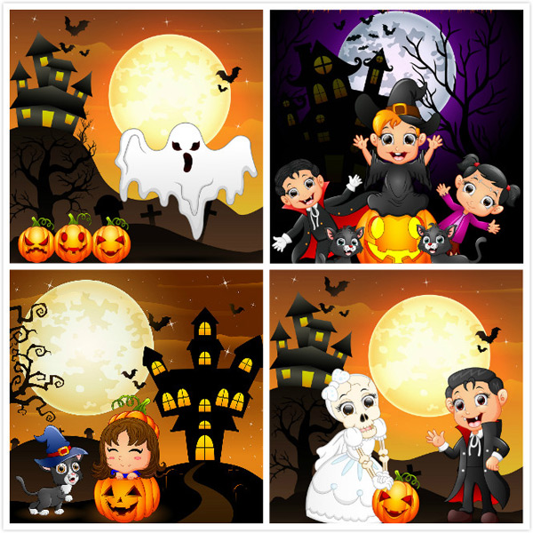 Creative Halloween vector EPS