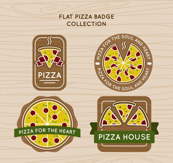 Creative pizzas coat of arms Vector AI