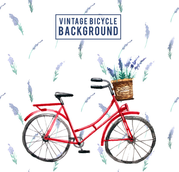 Cycling and lavender Vector AI