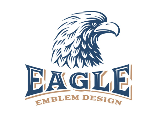 Eagle element symbol Vector EPS 02