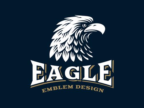 Eagle element symbol Vector EPS
