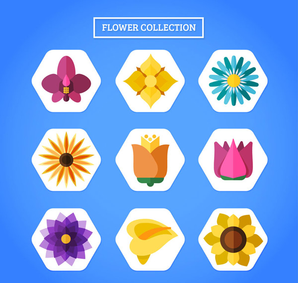 Flat flower icon Vector AI