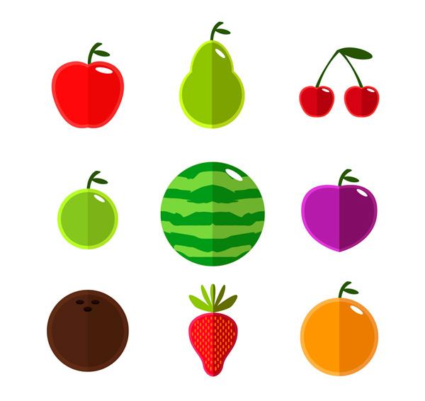 Flat fruit Vector AI