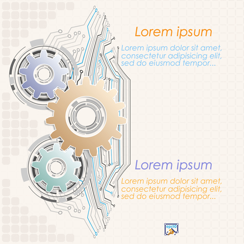 Gear and abstract elements Vector EPS 05