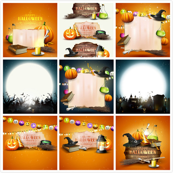 Halloween creative advertising vector EPS