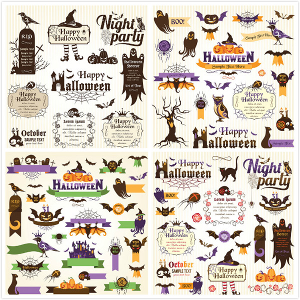 Halloween decoration vector EPS AI