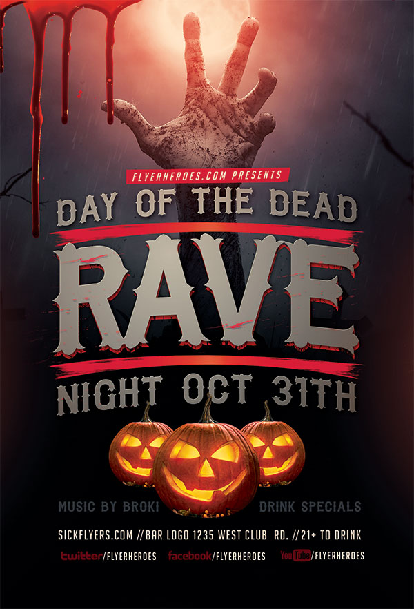 Halloween horror PSD posters 01