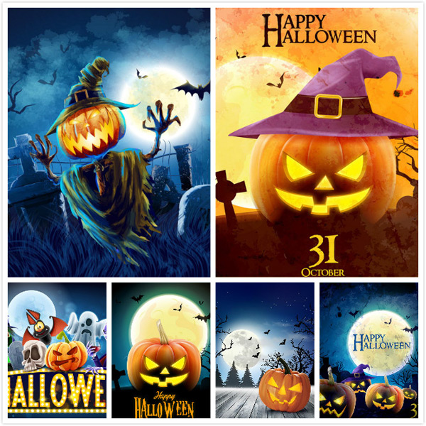 Halloween poster vector EPS