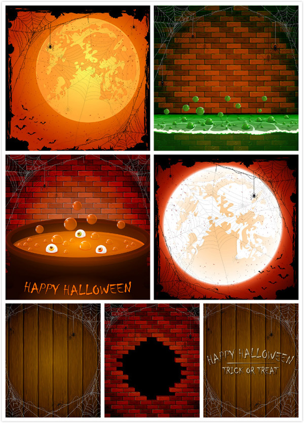 Halloween stuff vector EPS