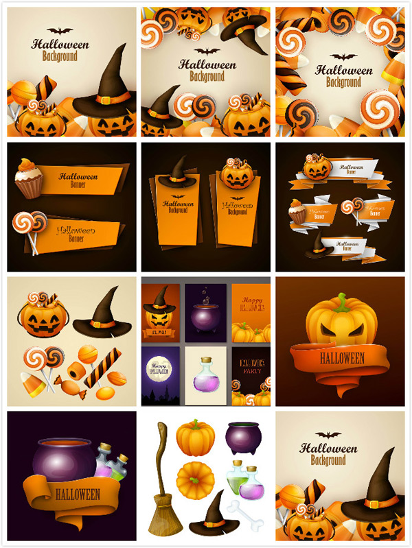 Halloween theme vector EPS