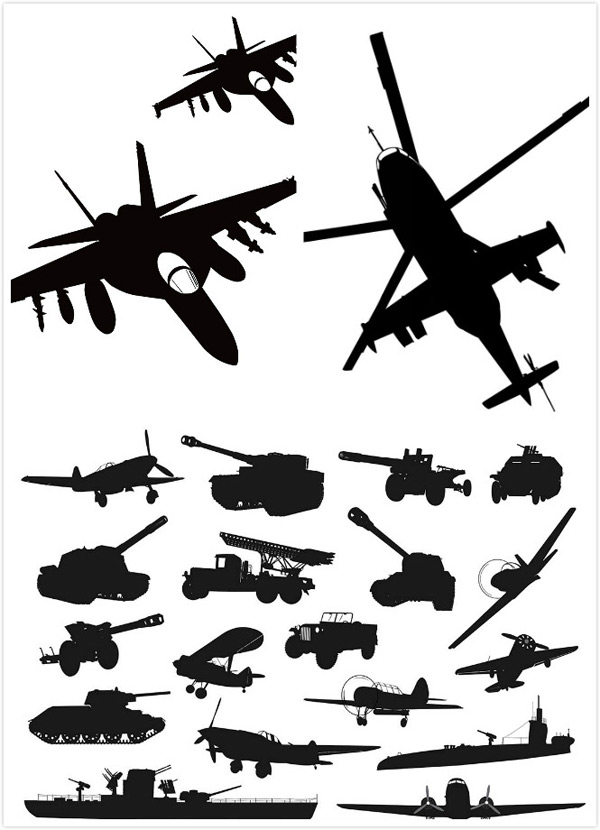 Military mechanical sketch Vector EPS