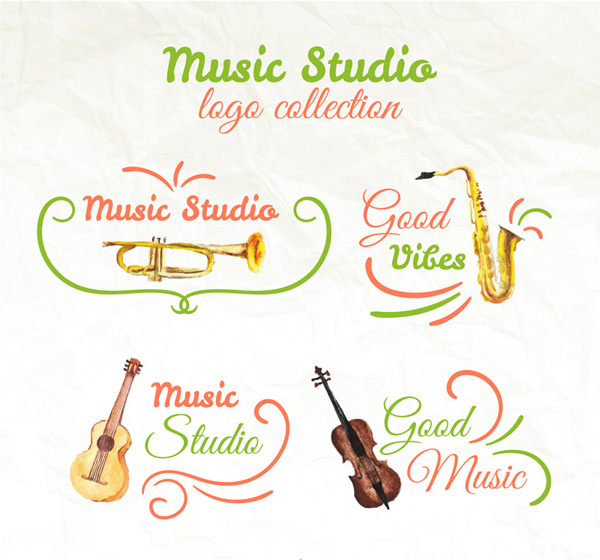 Music Studio logo Vector AI