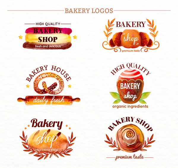Painted bakery sign Vector AI