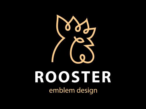 Rooster element symbol Vector EPS