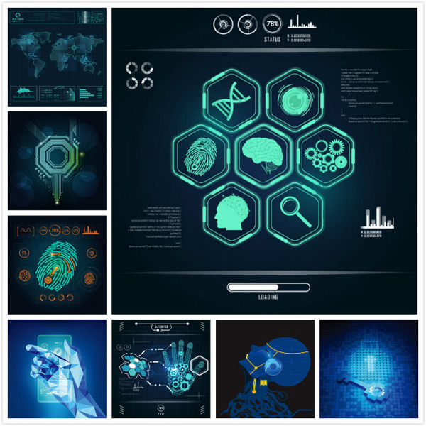 Science and technology Vector EPS 01