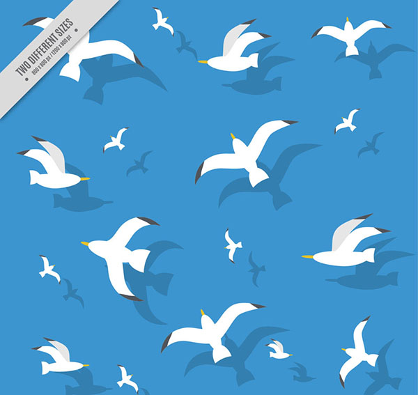 Seagull seamless background Vector AI