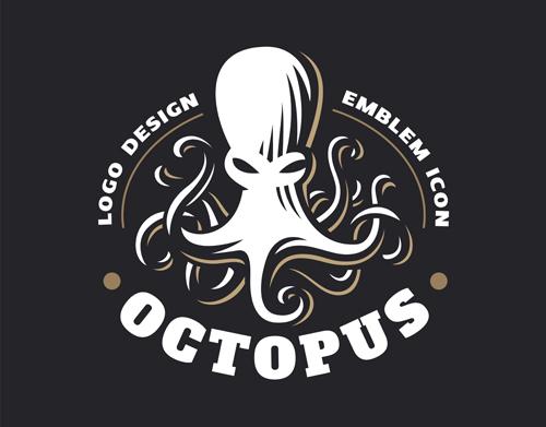 Squid element symbol Vector EPS
