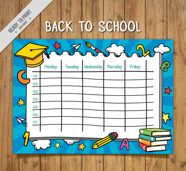 Stationery, school curriculum vector AI 02