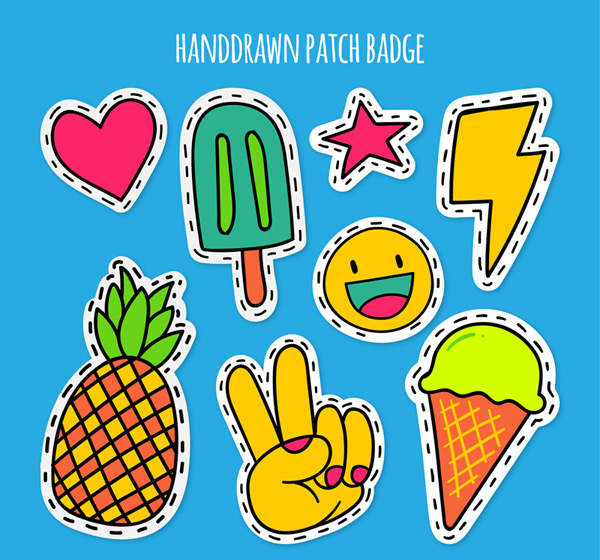Summer patch badge Vector AI 02
