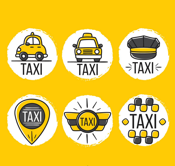 Taxi element tag Vector AI