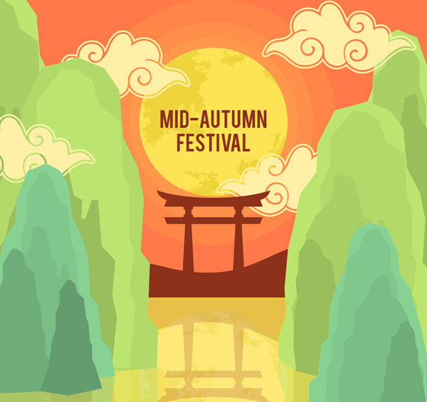 Tianmen Festival greeting cards Vector AI
