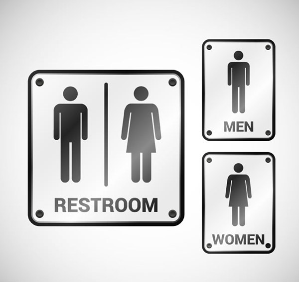 Toilet sign Vector AI