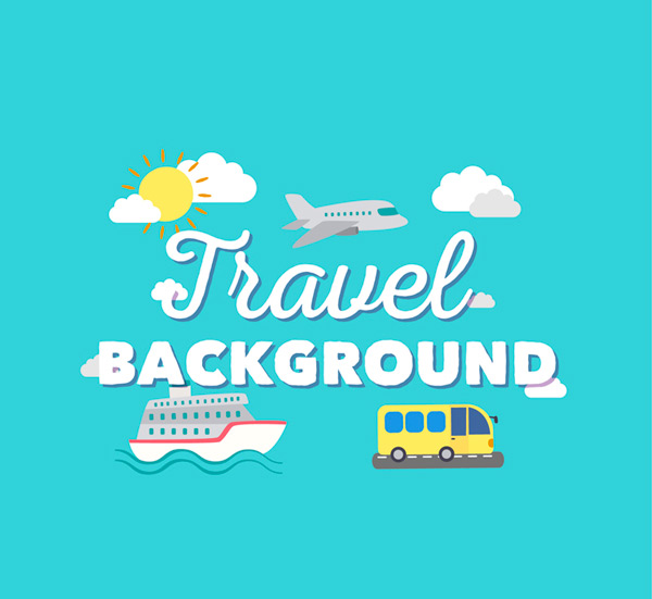 Travel transportation Vector AI