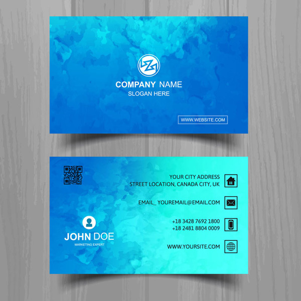 Water color business cards Vector AI