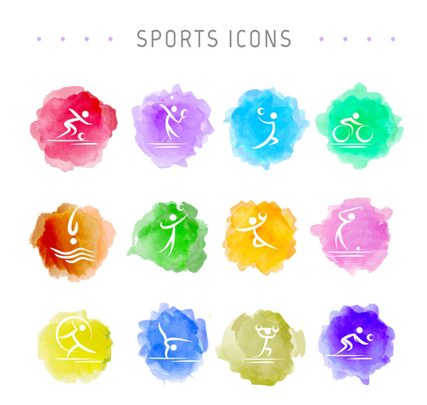 Water painting movement icon Vector AI