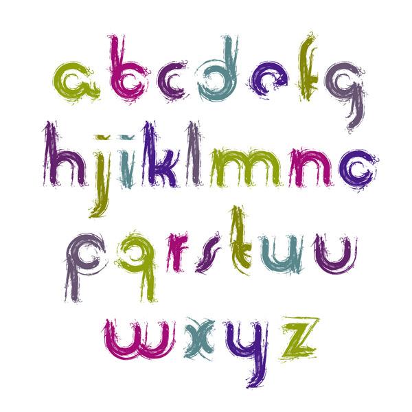 Brush Style alphabet Vector AI