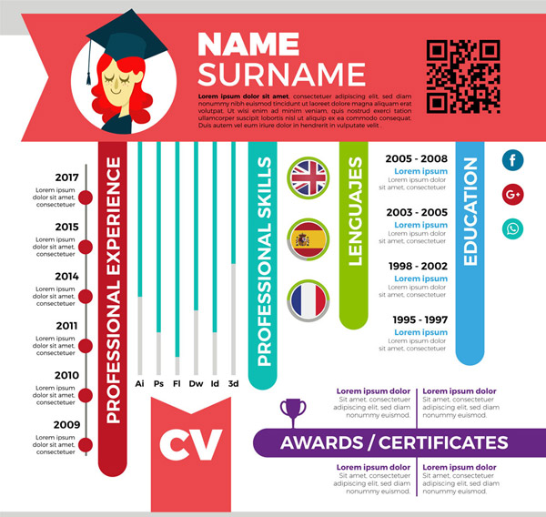 Business Resume Template Vector AI