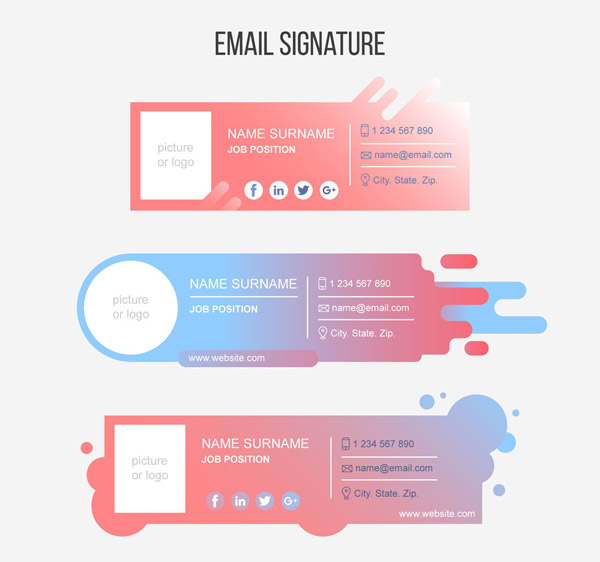 Creative Mail Signature Design Vector AI