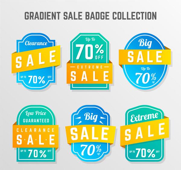Gradient Promotion Badge Vector AI