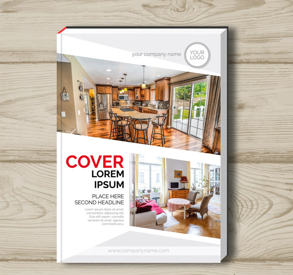 Home Decoration book cover Vector AI