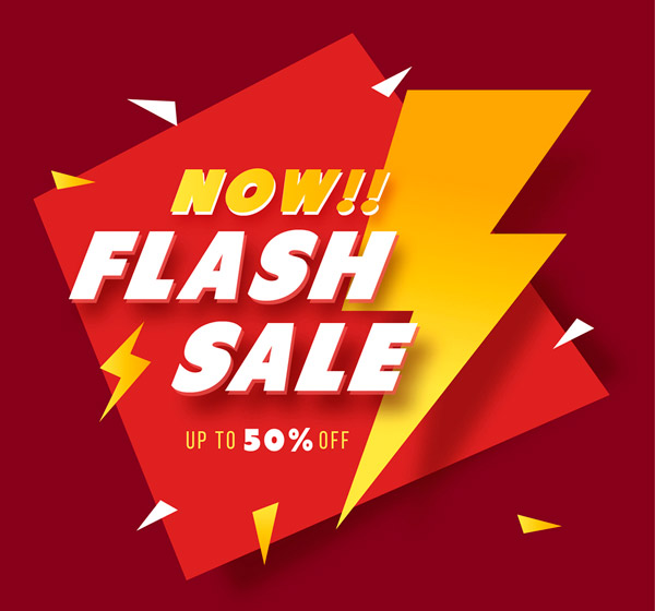 Lightning Limited Time SNAP poster Vector AI