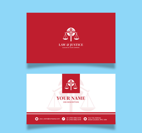 Red Lawyer's card Vector AI