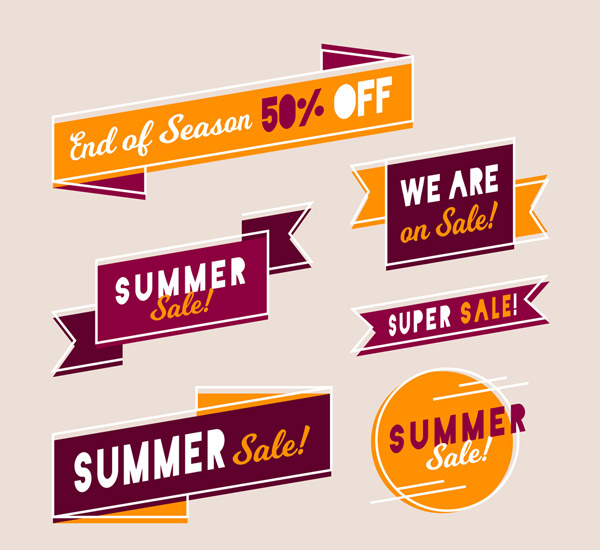 Summer Promotional label Vector
