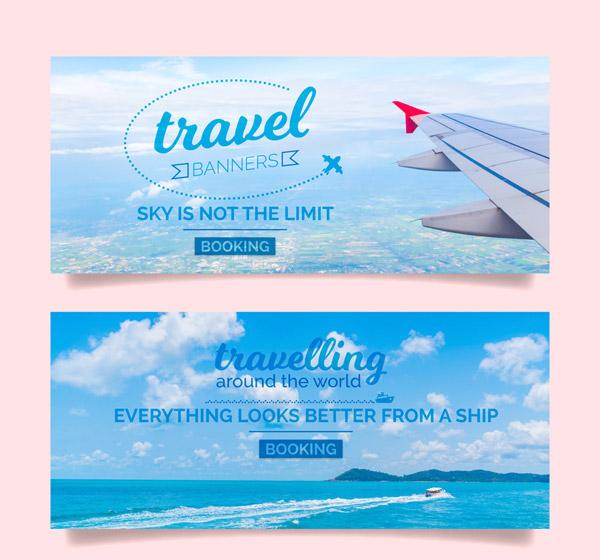 Travel Scenery Banner Vector AI