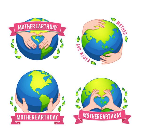 World Earth Day Label Vector AI 01