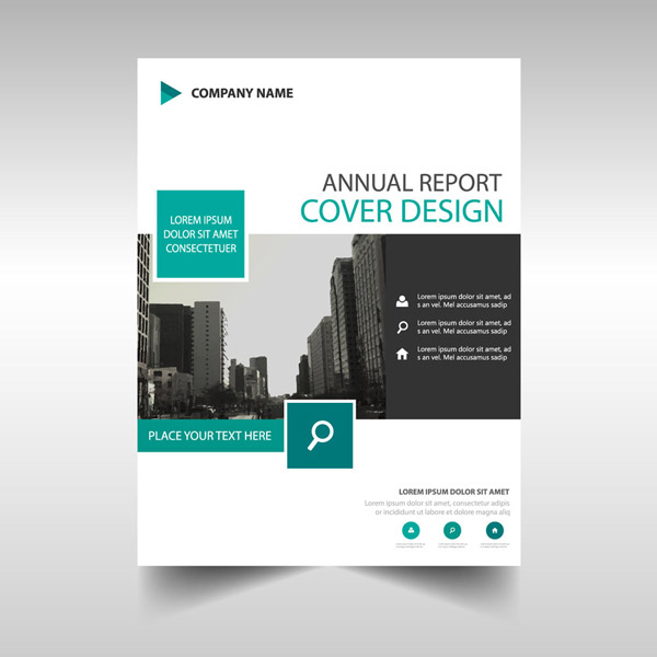 Fashion Annual Report cover Vector EPS