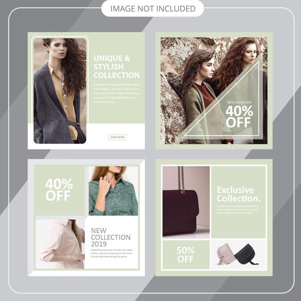 Fashion social media ads Vector EPS 01