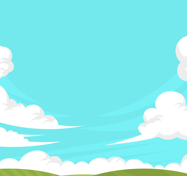 Grassland and clear skies Vector AI