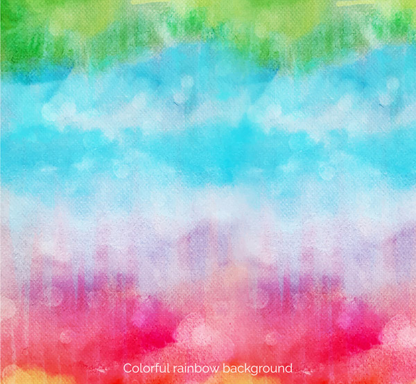 Painted Rainbow color Sky Vector AI