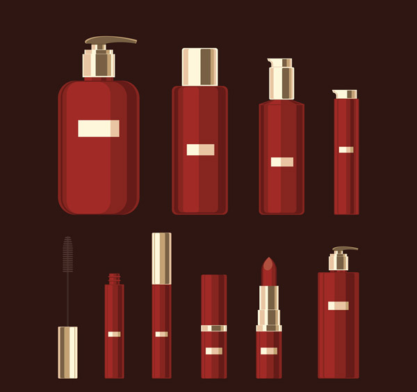 Red Cosmetic Vector