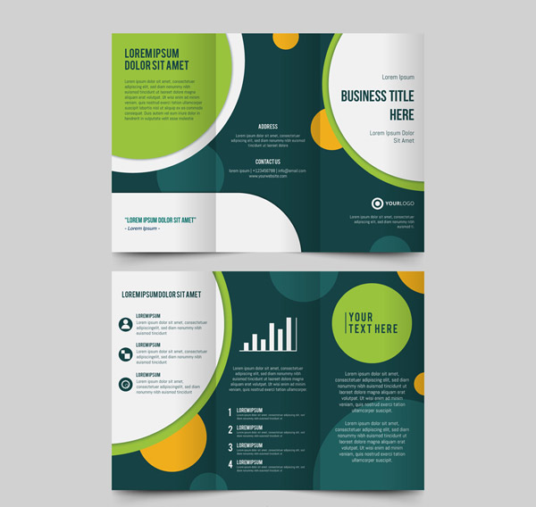 Three Fold Business Brochure Vector AI 01