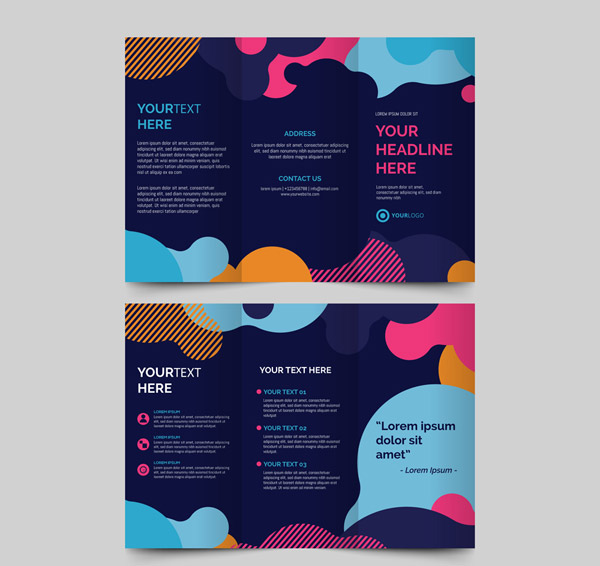 Three Fold Business Brochure Vector AI